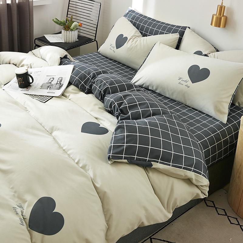 被套四件套床品套件床单被罩两件套2大学生宿舍床上三件套单人床