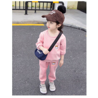 女宝宝秋冬装套装加绒加厚2潮1-4岁5女童洋气金丝绒卫衣小童衣服3巴