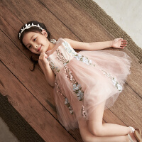 女童�B衣裙夏�b新款�n版�和�中大童�b夏季�W�裙洋�夤�主裙子