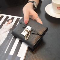 女士短款钱包女韩版迷你小钱包女钱夹潮 黑色 预售五天