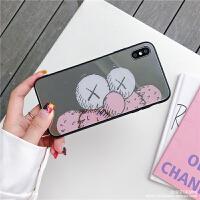 卡通芝麻街补妆镜8plus苹果x手机壳XS Max/XR/iPhone7p全包6s女潮 6/6s(4.7) 横板大Ka