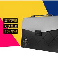 华杰A4手提风琴包 学生 文件包公文包事务包 多功能收纳包ST1094