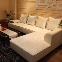 简约现代四季沙发垫子套罩巾布艺防滑通用冬真皮绒面毛绒家用客厅