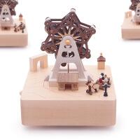 ?jeancard音乐盒八音盒木质送女生女孩儿童生日情人节礼物小熊旋转