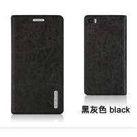 louiedennis 小米3手机壳 M3手机保护皮套 外壳 翻盖式男女潮耐用 小米3 -黑灰色