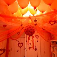 结婚庆用品婚房装饰新房布置创意欧式卧室浪漫婚礼彩带拉花球纱幔