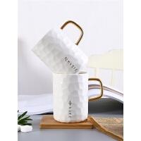 马克杯带盖勺 杯子创意个性潮流北欧陶瓷杯女ins风家用办公室水杯