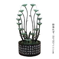 创意家居桌面流水摆件客厅办公室加湿器风水轮招财陶瓷喷泉小礼品