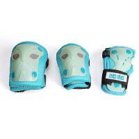 滑板护具儿童套装初学者荧光六件套护膝护肘护腕防摔滑冰护具全套