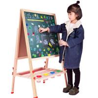 儿童双面磁性画板 家用宝宝小黑板支架式画画涂鸦写字板画架可升降