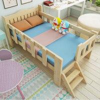 实木儿童床松木床拼接床带护栏小床男孩女孩公主床小孩床加宽床 其他