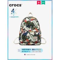 美国crocs包包女2019背包双肩包女帆布休闲双肩印花轻便尼龙书包