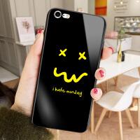 happyday笑脸苹果7plus手机壳XR情侣款iPhone8可爱玻璃6保护套XS MAX彩绘外壳 6/6s hat