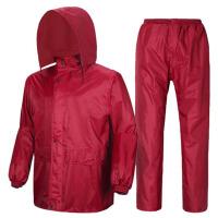 户外单人骑行雨衣雨裤套装 男女反光厚电动车分体雨衣