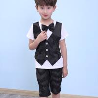 儿童西装小礼服幼儿园班服校服男童装表演服英伦风校服 黑色