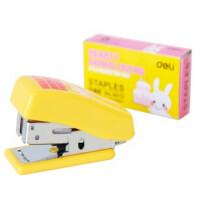 得力(deli) 0353 订书机套装 可爱卡通 小学生儿童礼物 颜色随机