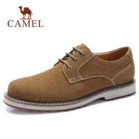 camel骆驼男鞋2018秋季休闲通勤低帮鞋反绒牛皮鞋时尚复古英伦潮青年鞋