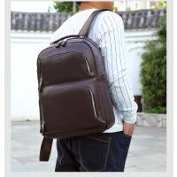 时尚户外双肩包 男包真皮大容量书包 韩版潮流旅行牛皮男士背包