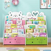 儿童书架置物架简易经济型学生书柜落地宝宝幼儿园小孩收纳绘本架