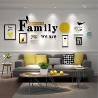 家居生活用品 现代简约客厅装饰画创意卧室墙画餐厅壁画北欧大气沙发背景挂画 适合1.5-4米的墙面