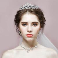 结婚饰品皇冠项链耳环三件套新娘发饰婚纱礼服配饰新娘头饰套装