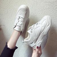 小白鞋女百搭平底皮面板鞋初中生纯白色球鞋学生韩版休闲运动白鞋