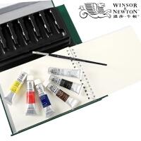 温莎牛顿绘画技法指引套装 油画套装 画廊丙烯 歌文水彩颜料套装