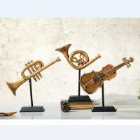 ?厂家直销 树脂金色乐器三件套装 工艺品 桌面饰品摆设批发 图片色 货号W8000-366