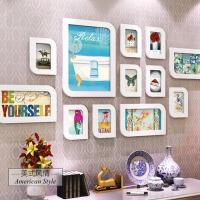 客厅田园相片墙卧室韩式画框组合 婚纱照片墙创意挂墙相框墙