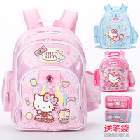 凯蒂猫KT儿童小学生书包休闲双肩包护脊背包幼儿园1一3年级二女生