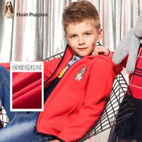 【4折价:139.6元】暇步士童装春季新款男童外套时尚简约摇粒绒夹克外套儿童外套
