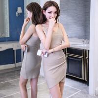 吊带连衣裙夏新款女韩版性感V领修身显瘦气质打底包臀裙子