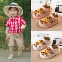 宝宝凉鞋夏季1-3岁包头儿童鞋子男一女童卡通0-2小童软底学步鞋潮