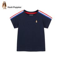 【2件5折:99.5元】暇步士童装男童圆领衫2021夏季新款中大童简约休闲短袖T恤