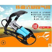 轻盈便携自行车脚踏打气筒高压便携式山地车电动车篮球打气泵
