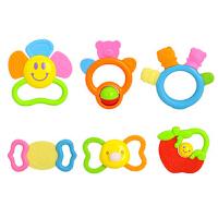 婴儿玩具0-1岁新生儿牙胶儿童早教摇铃组合12只礼盒 919+939A