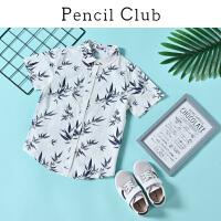 【3件2折:37.8】铅笔俱乐部2020夏季新款男童T恤短袖卡通休闲中大童儿童衬衫上衣