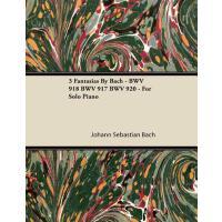 【预订】3 Fantasias by Bach - Bwv 918 Bwv 917 Bwv 920 - For Sol
