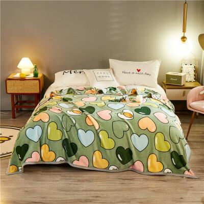珊瑚绒毯子床单冬季用加厚保暖法兰绒毛毯垫被子云貂绒床上用品