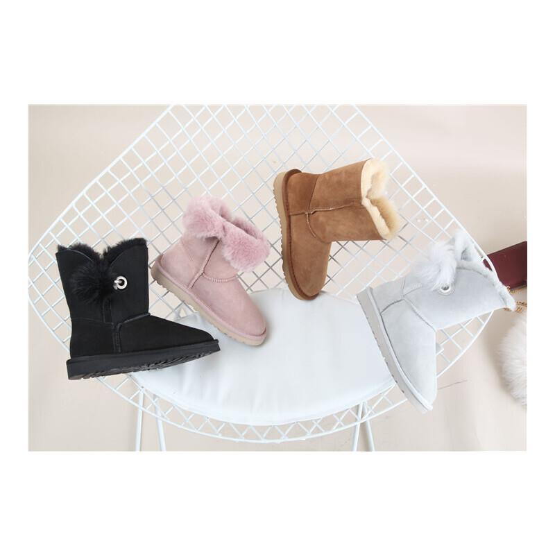 502 羊皮毛一体保暖女短靴雪地靴 发货周期:一般在付款后2-90天左右发货,具体发货时间请以与客服协商的时间为准