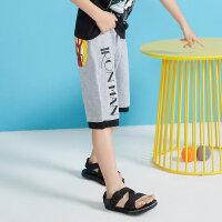 【1件2.5折叠券约:32.5,6月5日仅此一天】moomoo童装男童下装夏季新款迪士尼漫威时尚纯棉中大童短裤