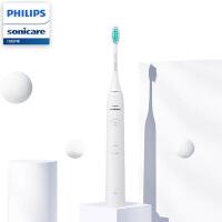 飞利浦(PHILIPS) 电动牙刷 成人声波震动牙刷 净力刷 2种模式 温和清洁 深蓝色 HX2431