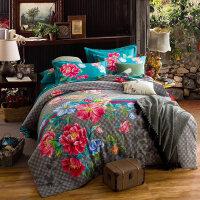 床上磨毛四件套全棉纯棉加厚床单被套1.5/1.8m床双人床上用品冬季