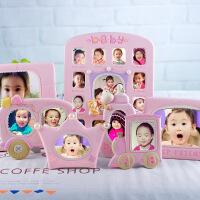 韩版卡通宝宝相框摆台婴儿周岁成长纪念加洗照片儿童个性创意组合 尺寸详见详情说明