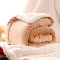 三层珊瑚绒毯子单人双人冬季法兰绒盖毯双层加厚仿羊羔绒毛毯被子