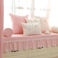 小清新定做棉麻海绵飘窗垫坐垫子夏季加厚榻榻米窗台垫