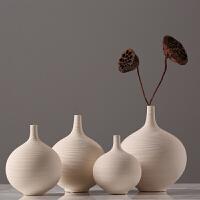 现代简约白色陶瓷花瓶 北欧客厅电视柜餐厅插花瓶花瓶花艺装饰摆件