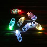 七彩闪光灯手指灯圣诞节平安夜节日活动晚会装饰灯彩色发光戒指灯