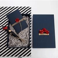 diy礼品包装盒 伴手礼盒 欧式香水化妆品蓝色礼物盒男士韩版个性