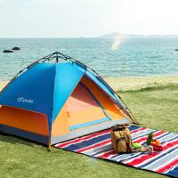全自动二室一厅家庭露营 户外帐篷2人野营厚防雨3-4人野外